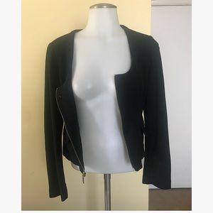 Express black zipper blazer